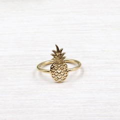 bague femme plaqué or ananas