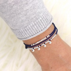 Bracelet cordon multi tours